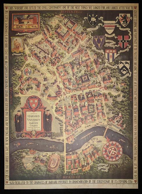 Harvard Tercenterary map