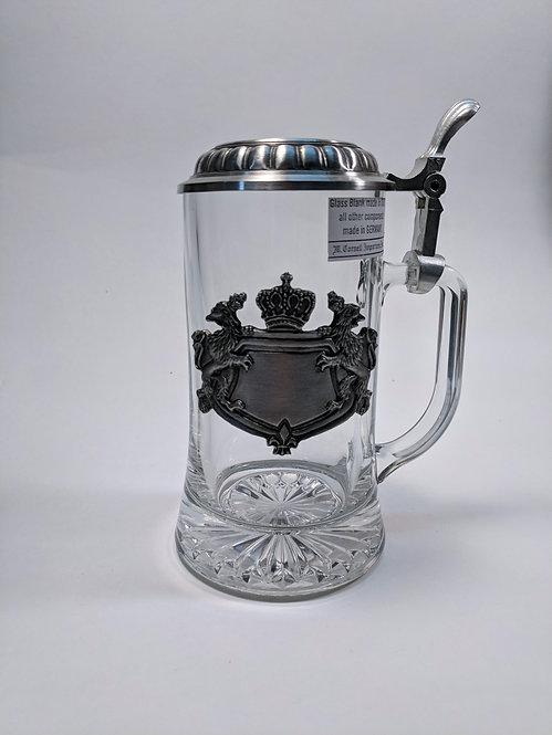 Glass Bavarian Crested Stein