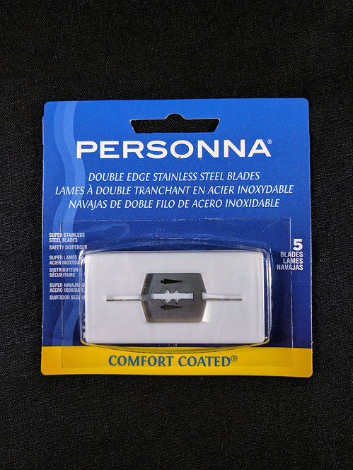 Personna U.S.A. Stainless Steel Razor Blades, pack of 5