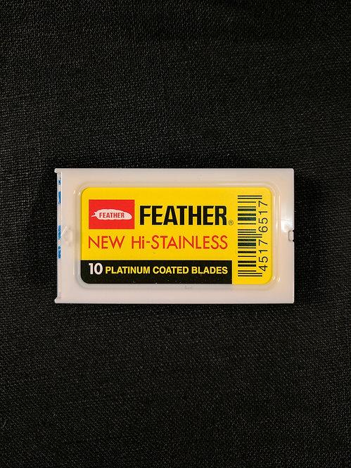 Feather Platinum Coated Razor Blades, pack of 10