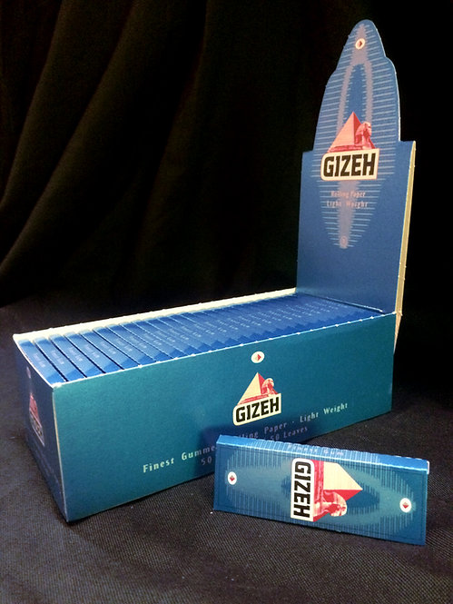 Gizeh Blue light papers, single width