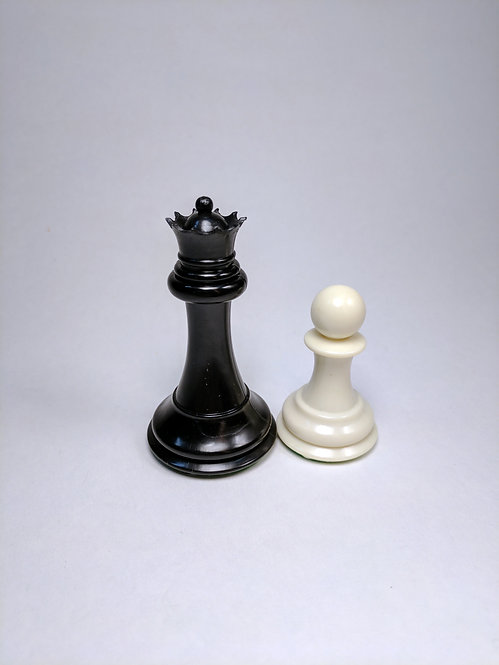 "Triple Weighted Plastic Chess Pieces, 4.25"" high"