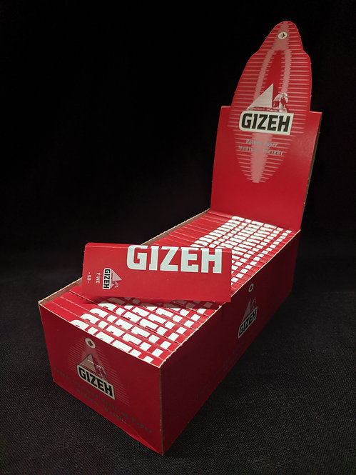 Gizeh Red papers, flax & hemp, single width