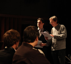 With composer Manfred Stahnke