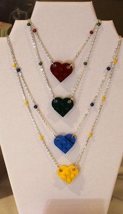 Ladies Necklace - Lego Heart