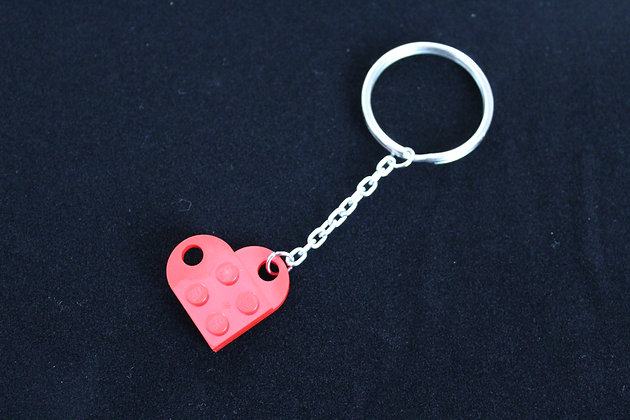 Keychain - Red Lego Heart
