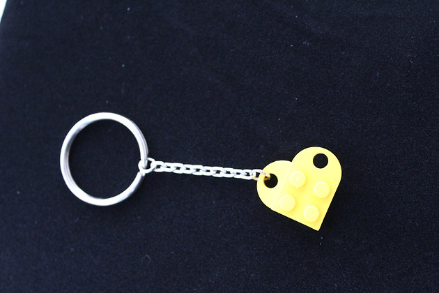 Keychain - Yellow Lego Heart