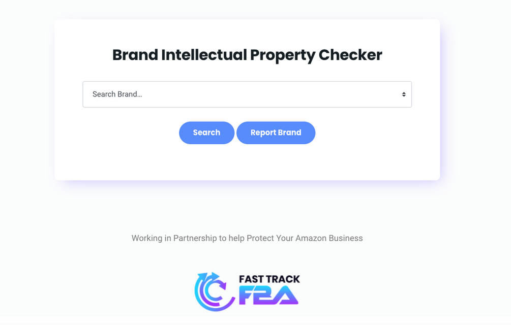 Fast Track FBA Brand Intellectual Property Checker