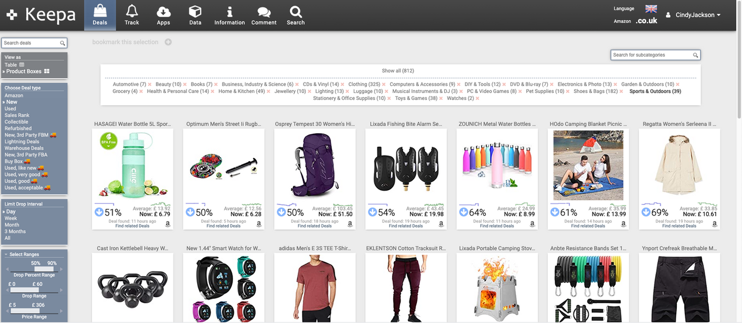 Keepa Amazon data software