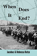 "Book cover to the New York times soon to be number one book ""When Does It End"""