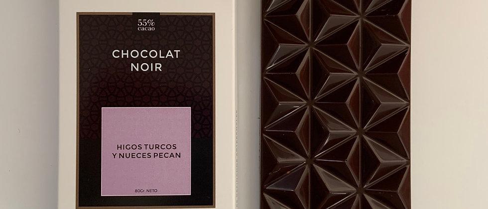 Chocolate negro con higos turcos y nueces pecan