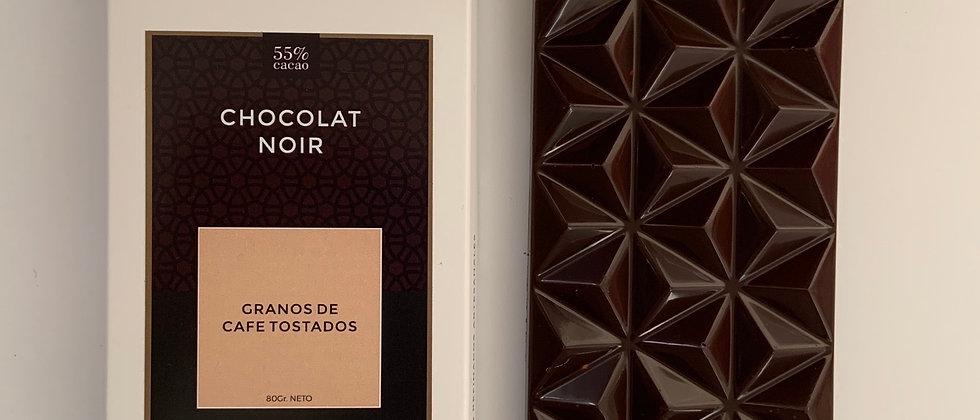 Chocolate negro con granillo de café tostado