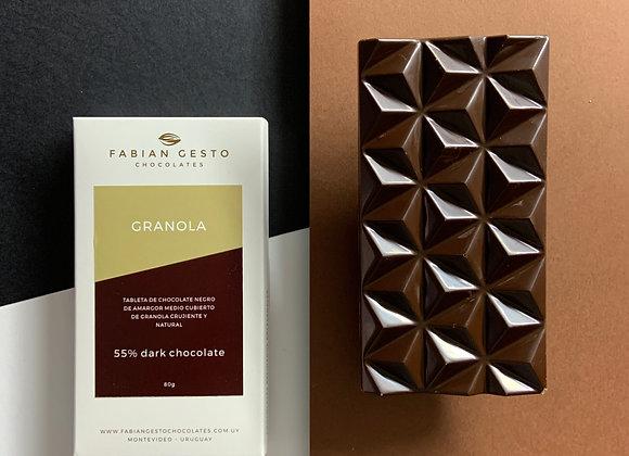 Chocolate negro con granola