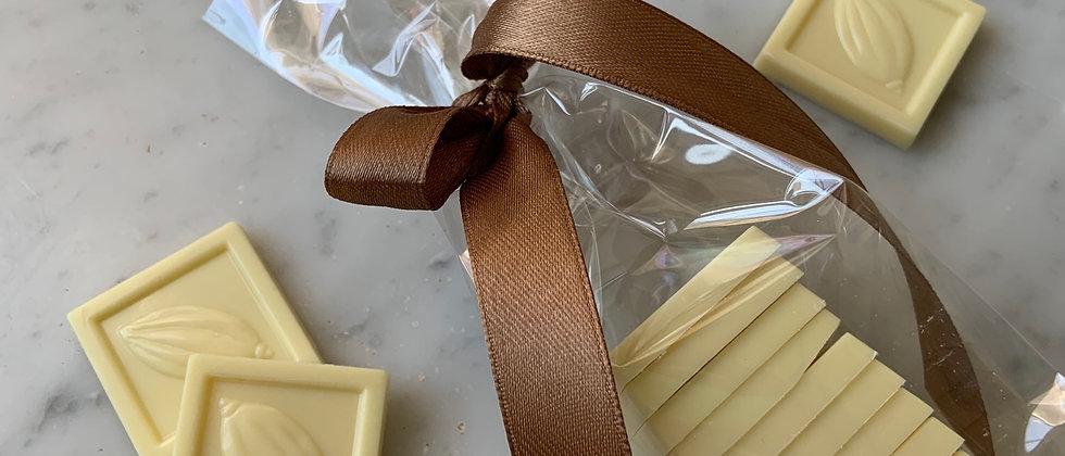 Mini tabletas de chocolate blanco