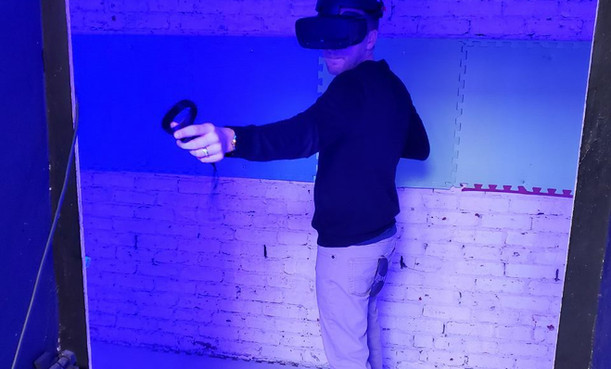 Playing VR at Infusion Edutainment