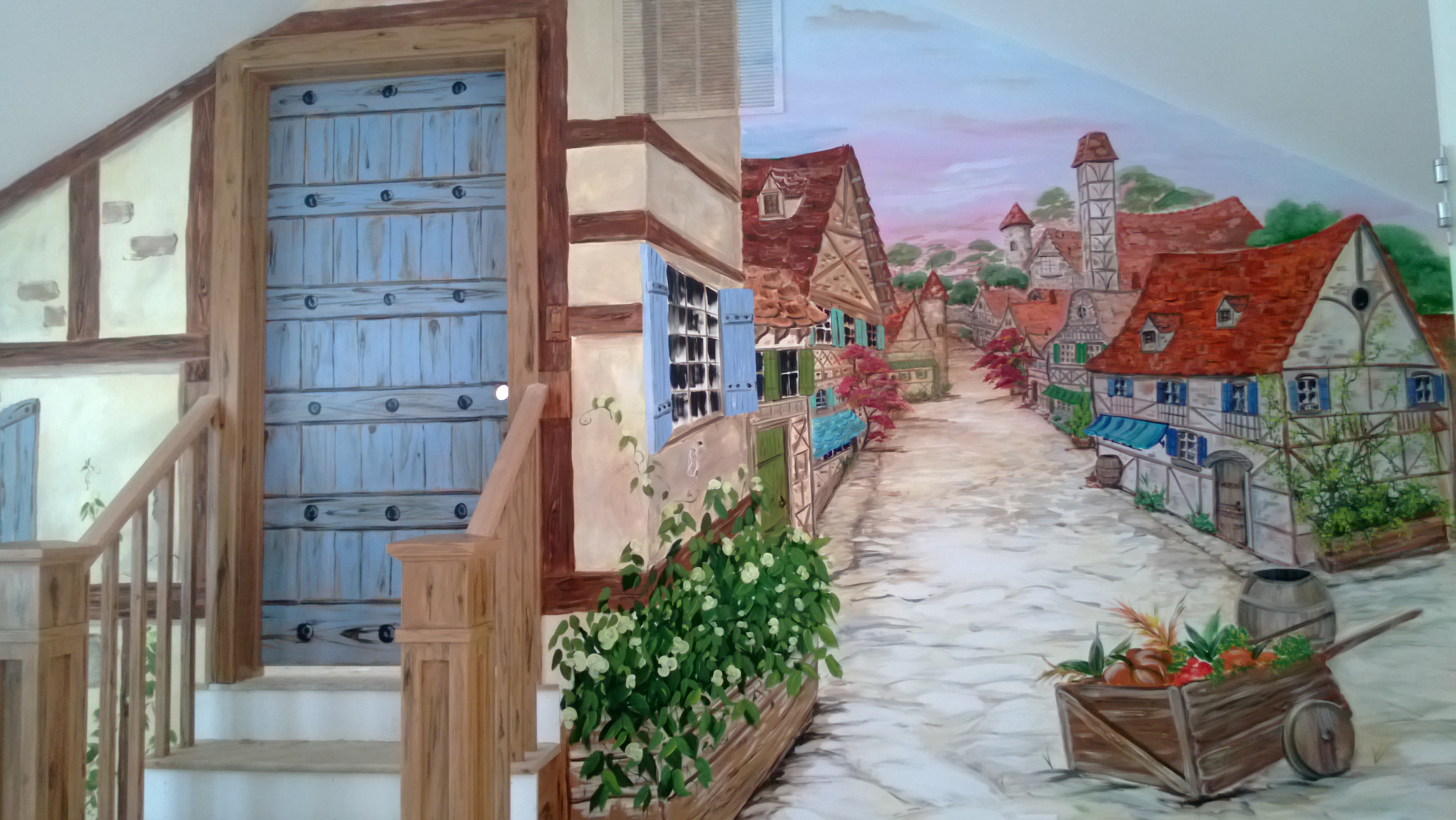 Belle's Quiet Village Mural