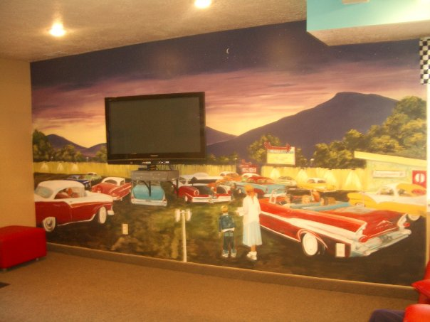 '50's Drive-in Theatre Mural