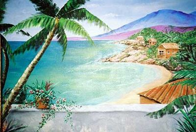 Mexican Riviera Veranda Mural
