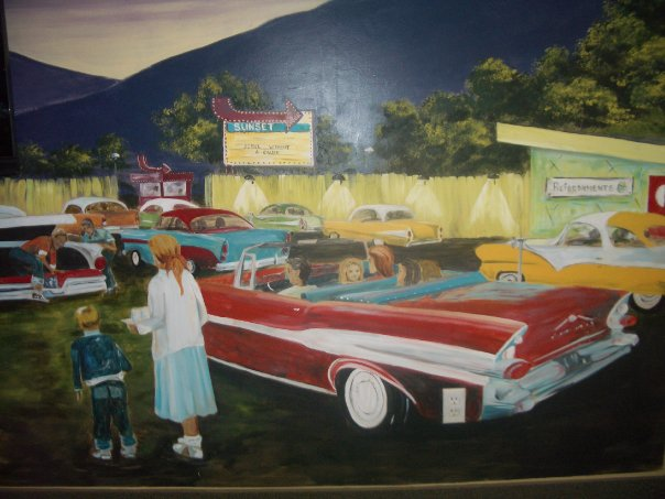 '50's Drive-in Theatre, closeup.