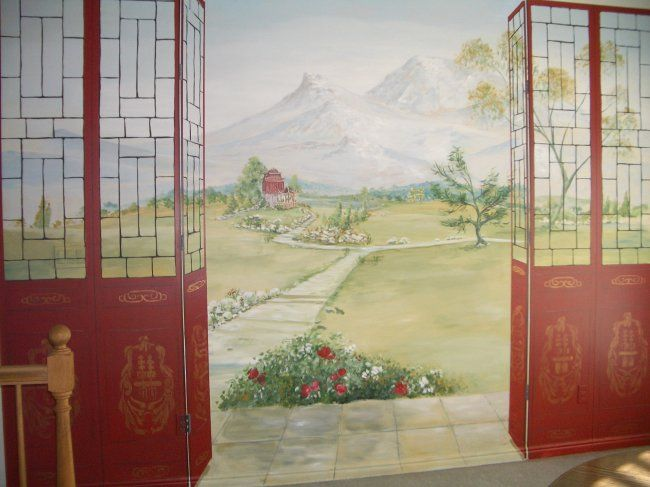 Chinese Garden Mural, view 2