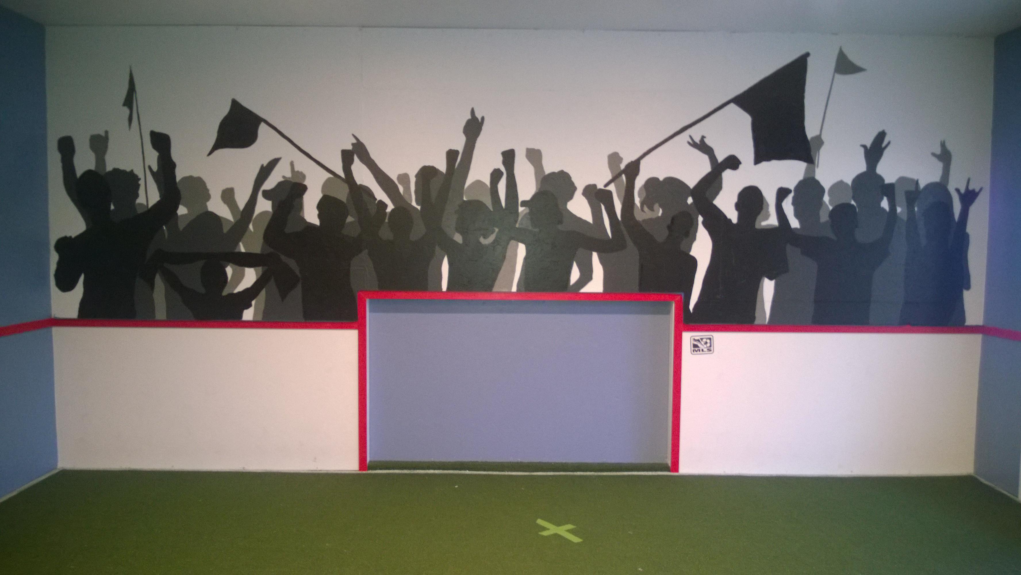 Fan Section Silhouette Mural