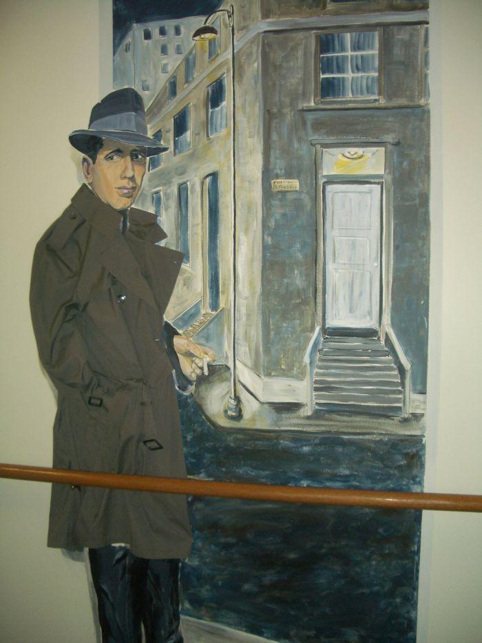 Humphrey Bogart Mural