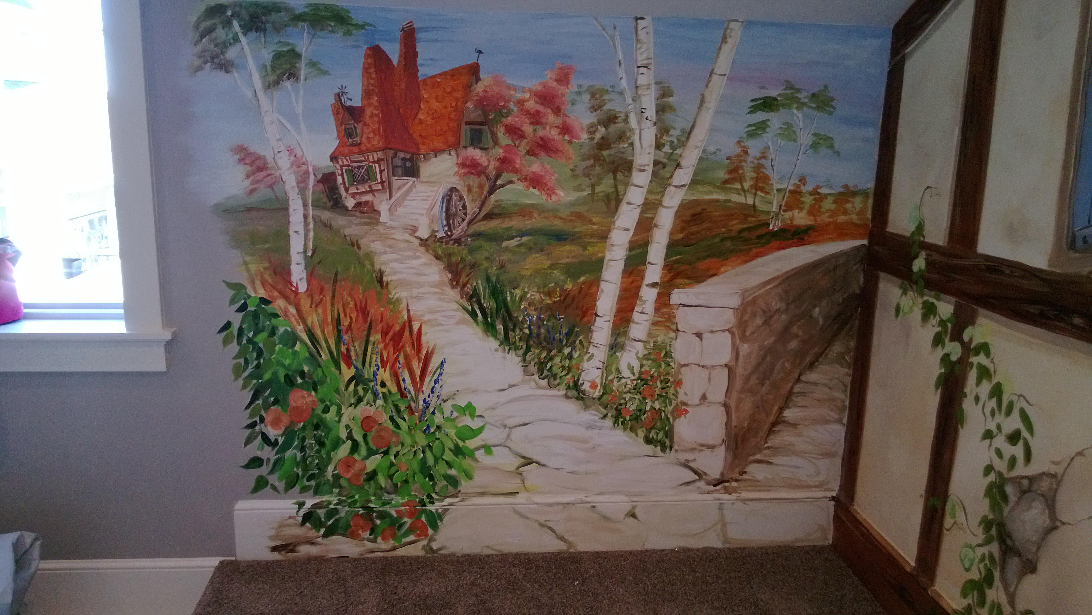Belle's Abode Mural