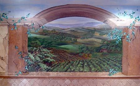 Tuscan Vineyards Mural