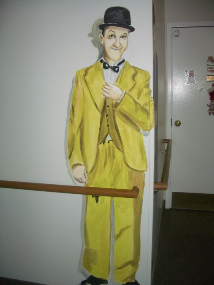 Laurel from a Laurel and Hardy Mural