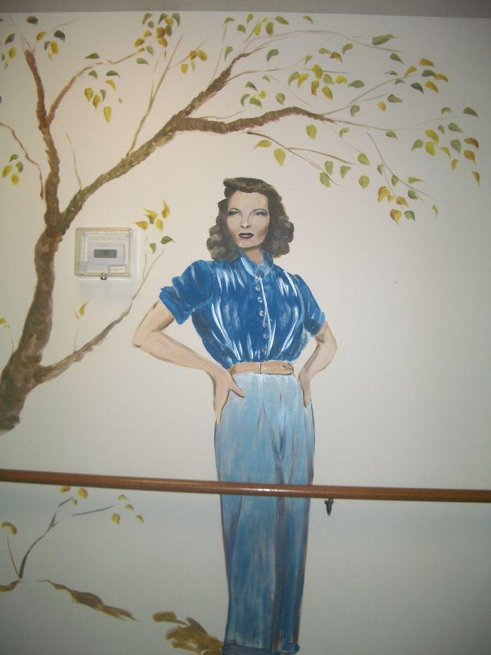 Katharine Hepburn Mural