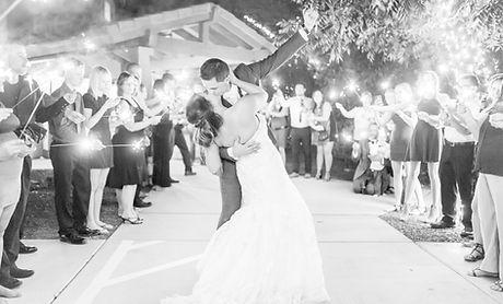 Sparkler Exit at wedding