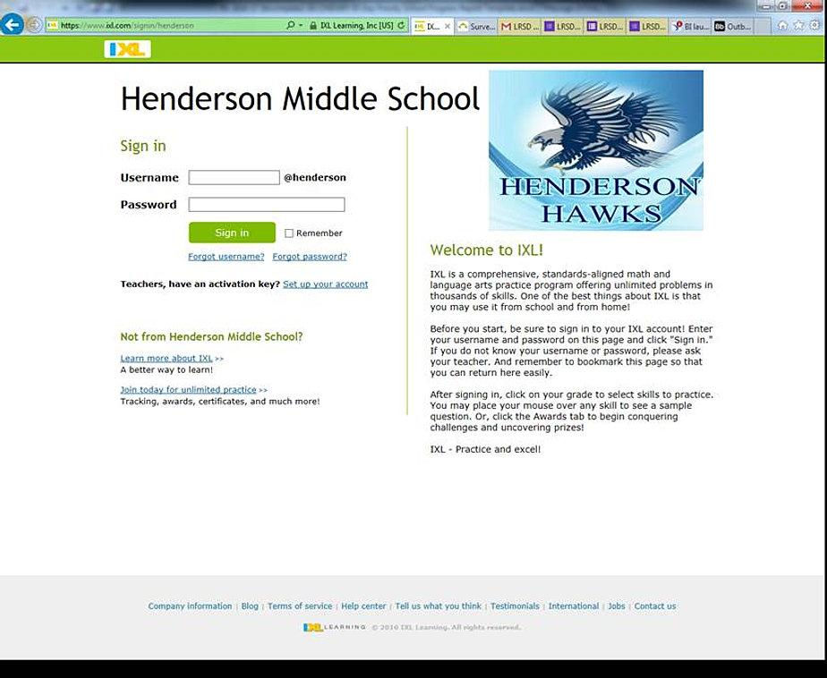 Henderson Middle School | IXL