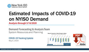Estimated Impacts of COVID-19 on NYISO Demand
