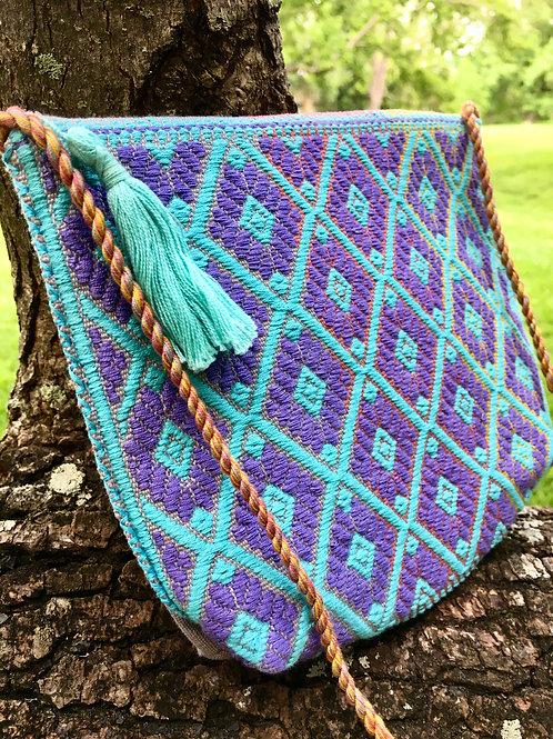 Maya Backstrap Loom Woven Purse (tri-color)