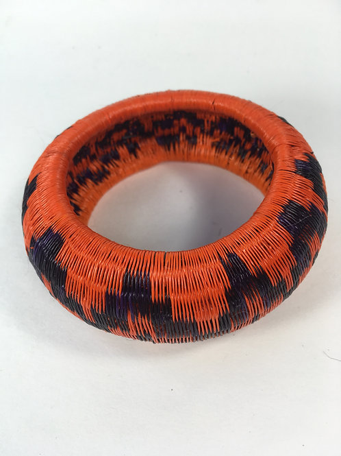 Wounaan Black Palm Bracelet (black/orange)