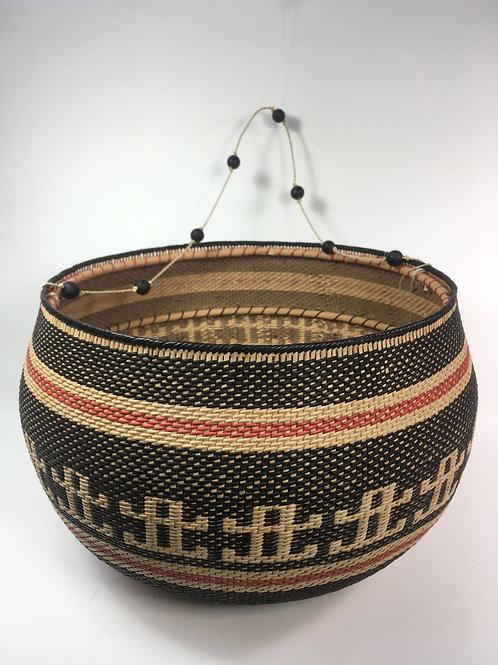 Setu Basket w/Woven & Beaded Handle (large)