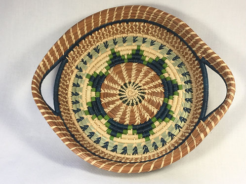 Pine needle Basket (blue/green/natural)