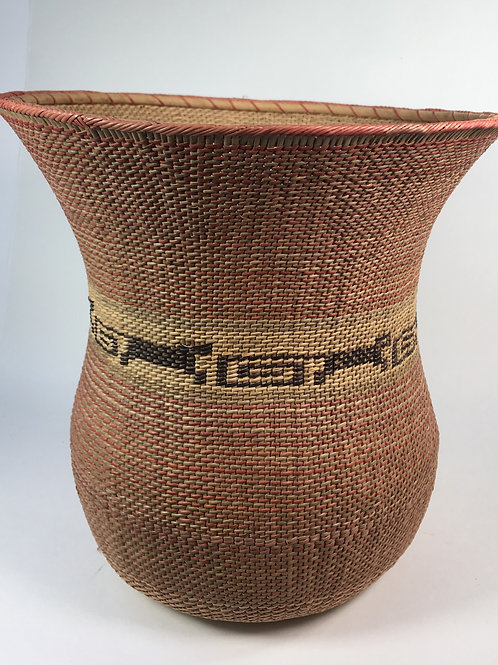 Wuwa Basket (medium); natural/red)