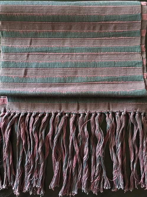 Backstrap Loom Woven Scarf (navy/lavender)