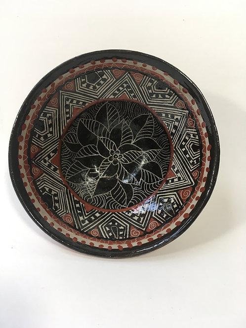 Sacha Warmi Ceramic Clay Bowl w/flower design (Small)