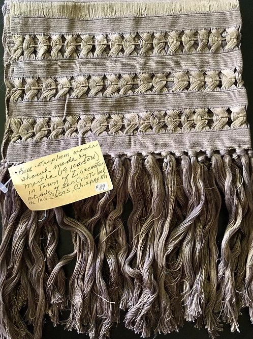 Backstrap Loom Woven Shawl (chocolate)