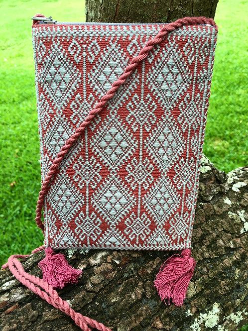 Maya Backstrap Loom Woven Purse (pink, blue)