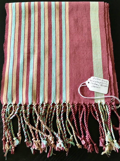 Hand Woven Scarf (striped)