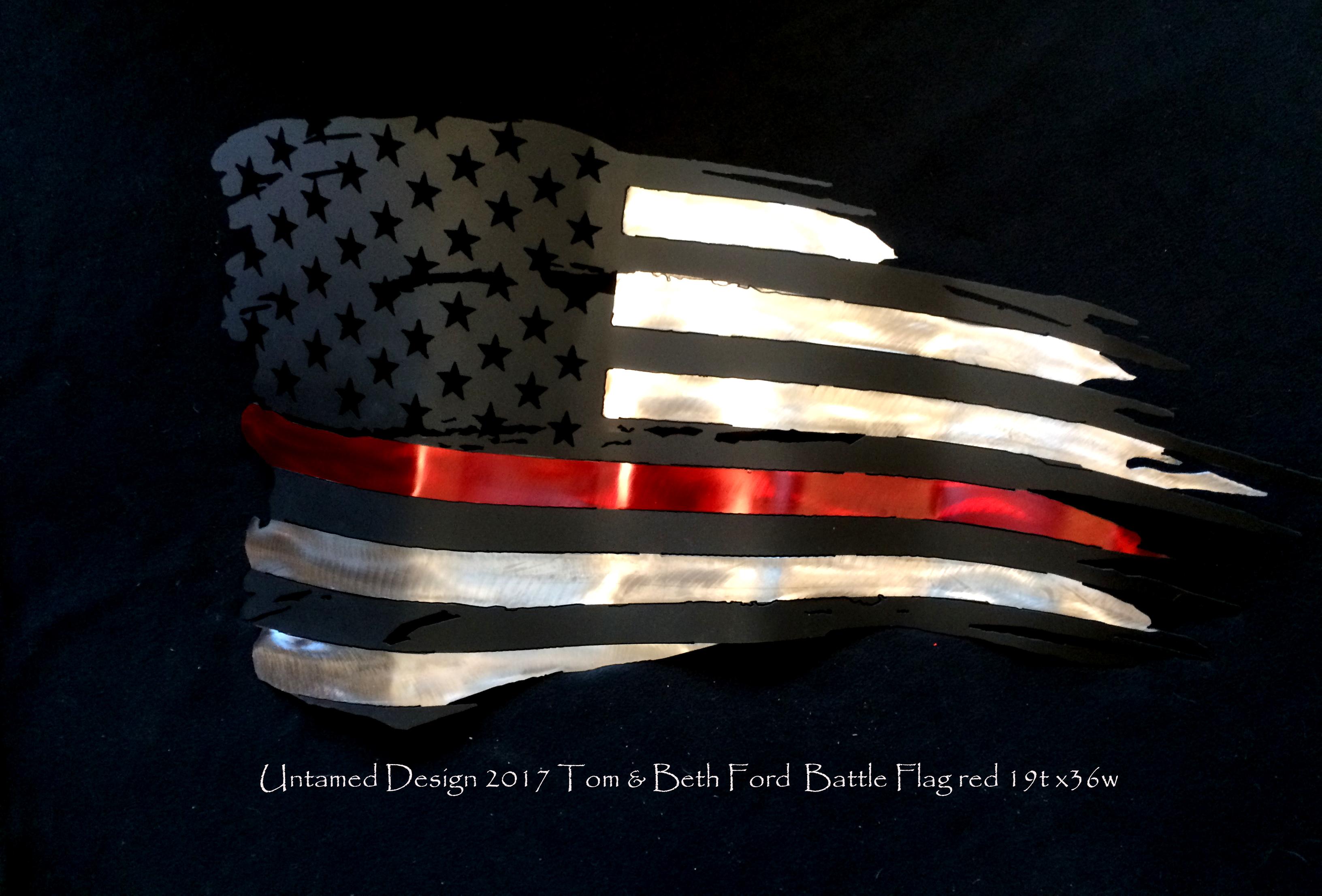 Battle Flag Red LIne
