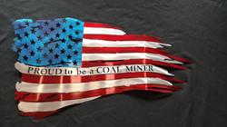 Coal miner flag