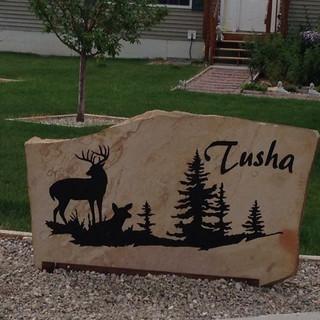 Personal yard stone