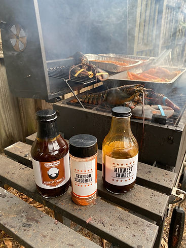 Grilled Lobster and Crab Legs using Hunter's Sauces, Marinades and Seasonings by King of Foods