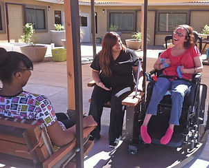 Wheelchair swing rehabilitation