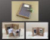 Petit album photo en carton, papier, réc