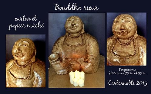 Bouddha Rieur en carton et papier mâché